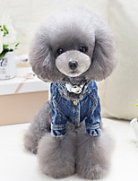 Dog Vest Dog Clothes Casual/Daily Geometic Blue