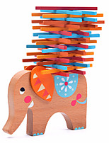 Building Blocks Wood Block Toys Elephant Wood Animals Family Friends 40 Pieces Kids Gift