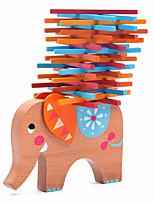 Blocos de Construir Blocos de Montar de Madeira Brinquedos Elefante Madeira Animais Família Amigos 40 Peças Dom