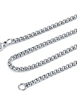 Men's Women's Chain Necklaces Jewelry Jewelry Stainless Steel Basic Jewelry For Gift Evening Party