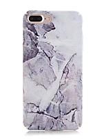 Недорогие -Кейс для Назначение Apple iPhone X / iPhone 8 Матовое / С узором Кейс на заднюю панель Мрамор Твердый ПК для iPhone X / iPhone 8 Pluss / iPhone 8