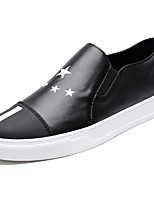 Men's Shoes PU Spring Fall Comfort Loafers & Slip-Ons For Casual Black White