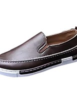 Men's Shoes PU Spring Fall Comfort Loafers & Slip-Ons For Casual Brown Black White