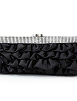 Women Bags All Seasons Silk Evening Bag Ruffles for Wedding Event/Party White Black Red Beige