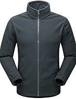 Men's Women's Hiking Fleece Jacket Outdoor Keep Warm Winter Fleece Jacket Full Length Visible Zipper for Running/Jogging Camping / Hiking