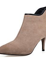 Damen Schuhe Kunstleder Winter Modische Stiefel Stiefeletten Stiefel Stöckelabsatz Spitze Zehe Booties / Stiefeletten Reißverschluss Für
