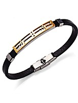 Men's Women's Bracelet Leather Bracelet Stainless Steel Leather Round Line Jewelry For Going out Street