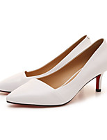 Women's Shoes Nappa Leather Spring Summer Comfort Heels For Casual Office & Career Almond Gray White