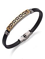 Homme Femme Bracelets en cuir Bracelet simple Pierre Acier inoxydable Cuir Forme Ronde Bijoux Pour Plein Air Sortie