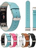 abordables -for fitbit charge2 bracelet en cuir véritable en cuir de vachette antidérapant