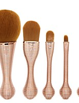 YZIMENG® 5pcs Unicorn Gold Makeup Brush Set with Box Concealer/Blush/Eyeshadow/Brow Synthetic Hair Professional Travel Make Up for Face