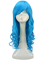 Women Synthetic Wig Capless Long Curly Light Blue Lolita Wig Party Wig Halloween Wig Costume Wig