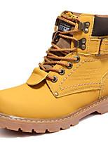 Mujer Zapatos Cuero real Otoño Invierno Botas hasta el Tobillo Botas de Combate Botas Botines/Hasta el Tobillo Con Cordón Para Casual