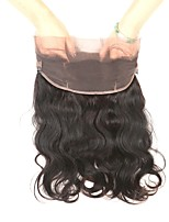 Human Hair Brazilian Natural Color Hair Weaves Body Wave Hair Extensions 1pc Black