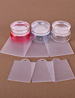 3 Nail Stamping Image Template Plates Stamper Scraper
