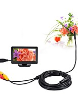 5.5mm Dia AV Endoscope 5V NTSC Inspection Borescope Camera 5m Night Vision Snake Video Cam with 4.3 inch TFT Color Monitor