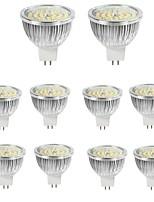 10pcs 6w mr16 ha condotto il riflettore 48 * 2835smd 550lm caldo / freddo bianco lampada spot di alluminio ac / dc12v
