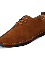 Men's Shoes Nubuck leather Spring Fall Comfort Loafers & Slip-Ons For Casual Khaki Gray Black