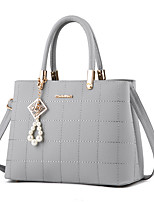 Women Bags Fall Winter PU Tote Pearl Detailing Sequins for Casual Office & Career Fuchsia Light Grey Sky Blue Wine Royal Blue