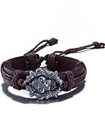 Men's Women's Leather Bracelet Jewelry Friendship Punk Adjustable PU Alloy Lion Jewelry For Daily Casual Stage Office & Career Street