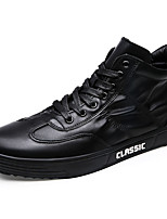 Men's Shoes Rubber Spring Fall Comfort Sneakers Lace-up For Outdoor Red Black White