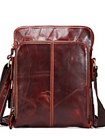 Men Bags Cowhide Crossbody Bag Zipper for Casual Office & Career All Seasons Black Red Camel Brown