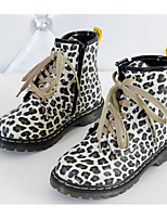 Girls' Shoes Flocking Fall Winter Comfort Bootie Boots For Casual Leopard