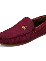Men's Shoes PU Spring Fall Comfort Loafers & Slip-Ons For Casual Blue Red Brown