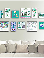 Botanical Cartoon Fantasy Frame Art Wall Art,Steel Material With Frame For Home Decoration Frame Art Living Room