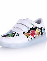 Girls' Shoes PU Fall Light Up Shoes Sneakers For Casual White