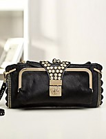Women Bags Winter Other Leather Type Clutch Zipper for Casual Brown Yellow Black
