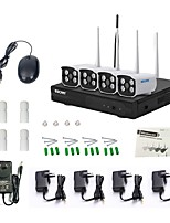 escam wnk403 plug and play kit wireless nvr kit p2p 720p hd esterno visore notturno sicurezza sistema IP wifi