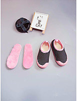 Girls' Shoes Fabric Fall Winter Comfort Loafers & Slip-Ons For Casual Black/White Blushing Pink Blue Purple Black