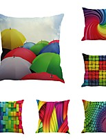 Set Of 6 Abstract Colorful Geometry Pattern Personality  45*45Cm Pillow Case
