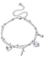 Women's Anklet/Bracelet Silver Plated Alloy Fashion Classic Heart Geometric Jewelry For Party Gift Daily Casual Evening Party