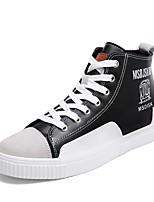 Homme Chaussures Cuir Printemps Automne Semelles Légères Basket Lacet Pour Décontracté Blanc Noir