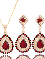 Women's Fashion Simple Style Cubic Zirconia Rhinestone Earrings Necklace For Wedding Party Wedding Gifts