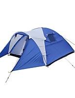 3-4 personnes Tente avec Filet de Protection Tente Cabine Abri de Camping Tente Double Tente de camping Une pièce avec vestibule Tentes
