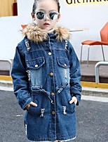 Girls' Solid Jacket & Coat Winter Fall Blue