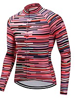 Cycling Jersey Unisex Long Sleeves Bike Jersey Quick Dry Solid Autumn/Fall Cycling Motorsports Mountain Bike/MTB Road Bike Red