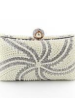 Damen Taschen Ganzjährig Polyester Abendtasche Perlen Verzierung für Hochzeit Veranstaltung / Fest Beige