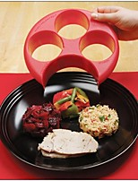 Healthy Red Meal Measure Perfect Portion Weight Control Plate Diet Slimming Naturalize Manage