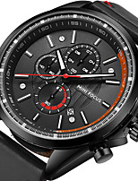 Men's Sport Watch Fashion Watch Wrist watch Japanese Quartz Calendar Stopwatch Noctilucent Genuine Leather Band Luxury Cool Casual Black