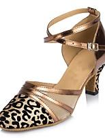 Women's Modern Sparkling Glitter Sandal Heel Sneaker Indoor Sequin Flared Heel Black Silver Gray Red Leopard 3