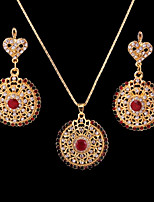 Women's Fashion Classic Cubic Zirconia Rhinestone Earrings Necklace For Wedding Party Wedding Gifts