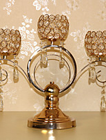 European-Style Crystal Candles Holder Wedding Props Tableware
