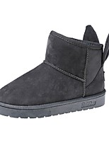 Women's Shoes PU Winter Snow Boots Boots Flat Heel Round Toe For Casual Party & Evening Blushing Pink Gray Black