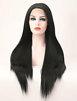 Women Synthetic Wig Lace Front Long Straight Black Side Part Natural Wigs Costume Wig