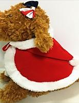 Katze Hund Kostüme Hundekleidung Party Cosplay warm halten Halloween Weihnachten Solide Rot Kostüm Für Haustiere