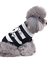 Dog Sweater Dog Clothes Casual/Daily Skulls Costume For Pets